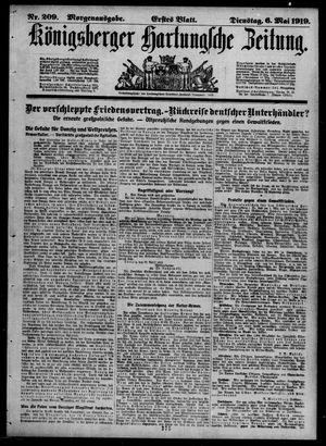 Königsberger Hartungsche Zeitung vom 06.05.1919