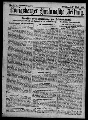 Königsberger Hartungsche Zeitung vom 07.05.1919