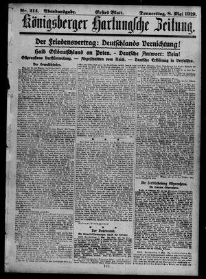 Königsberger Hartungsche Zeitung vom 08.05.1919