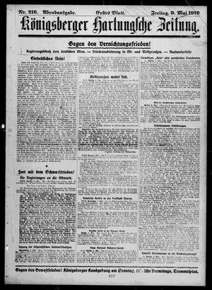 Königsberger Hartungsche Zeitung vom 09.05.1919