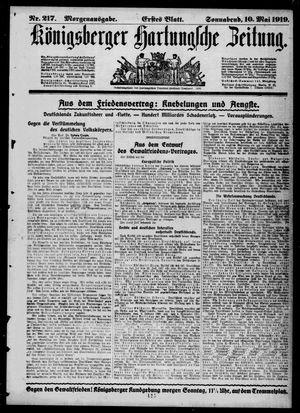 Königsberger Hartungsche Zeitung vom 10.05.1919