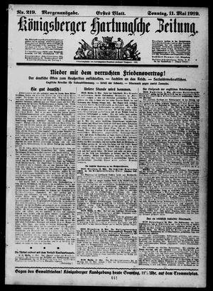 Königsberger Hartungsche Zeitung vom 11.05.1919