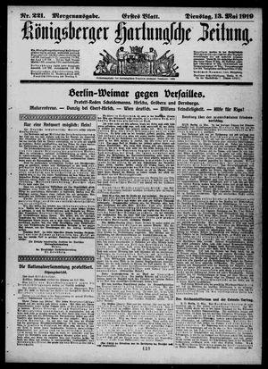 Königsberger Hartungsche Zeitung vom 13.05.1919