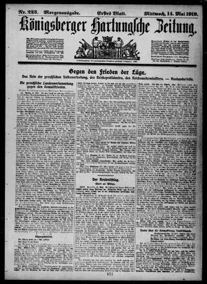 Königsberger Hartungsche Zeitung vom 14.05.1919