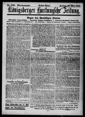 Königsberger Hartungsche Zeitung vom 16.05.1919
