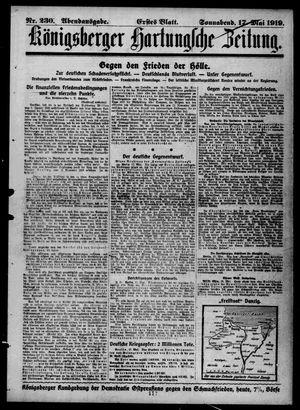 Königsberger Hartungsche Zeitung vom 17.05.1919
