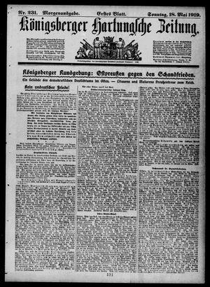Königsberger Hartungsche Zeitung vom 18.05.1919