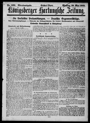 Königsberger Hartungsche Zeitung vom 19.05.1919