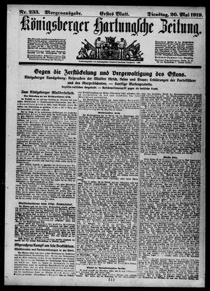 Königsberger Hartungsche Zeitung vom 20.05.1919