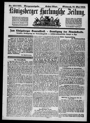 Königsberger Hartungsche Zeitung vom 21.05.1919