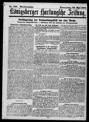 Königsberger Hartungsche Zeitung vom 22.05.1919