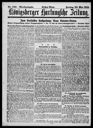 Königsberger Hartungsche Zeitung vom 23.05.1919