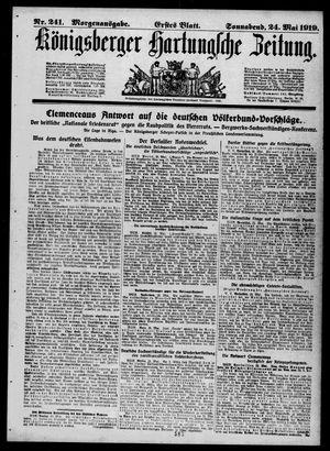 Königsberger Hartungsche Zeitung vom 24.05.1919