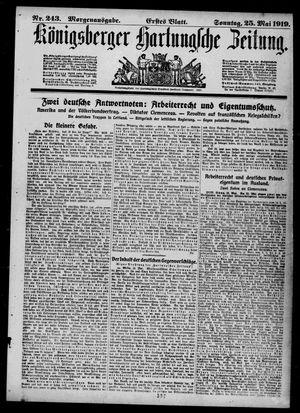 Königsberger Hartungsche Zeitung vom 25.05.1919