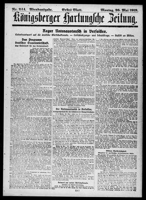 Königsberger Hartungsche Zeitung vom 26.05.1919