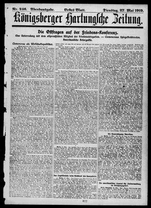 Königsberger Hartungsche Zeitung vom 27.05.1919