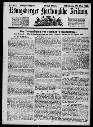 Königsberger Hartungsche Zeitung vom 28.05.1919
