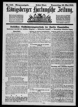 Königsberger Hartungsche Zeitung vom 29.05.1919