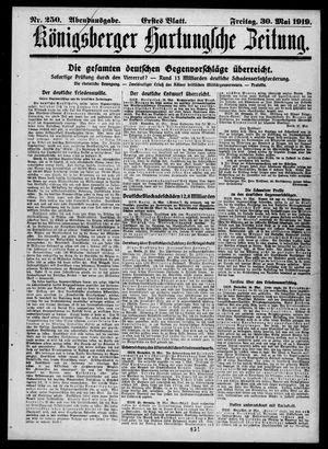 Königsberger Hartungsche Zeitung vom 30.05.1919