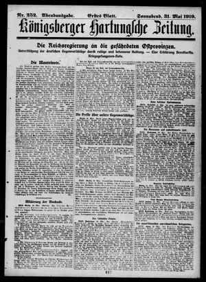 Königsberger Hartungsche Zeitung vom 31.05.1919