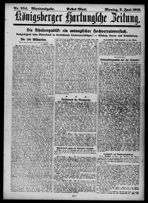 Königsberger Hartungsche Zeitung vom 02.06.1919