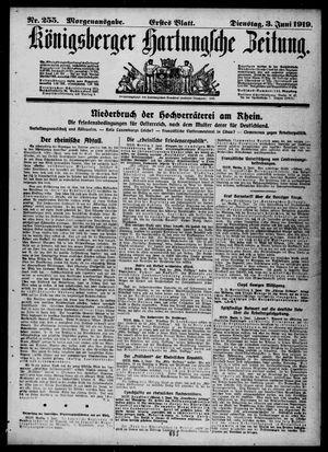 Königsberger Hartungsche Zeitung vom 03.06.1919