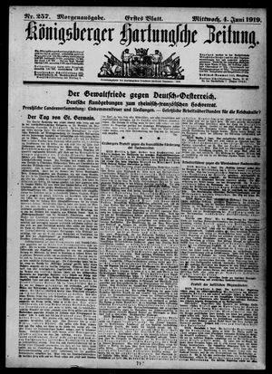 Königsberger Hartungsche Zeitung vom 04.06.1919