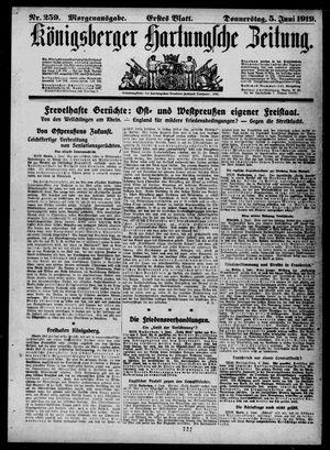 Königsberger Hartungsche Zeitung vom 05.06.1919