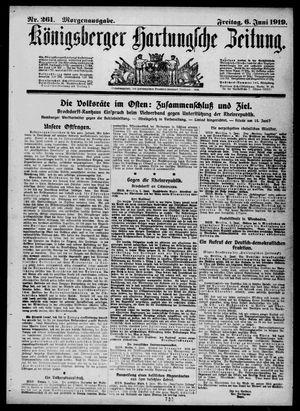 Königsberger Hartungsche Zeitung vom 06.06.1919