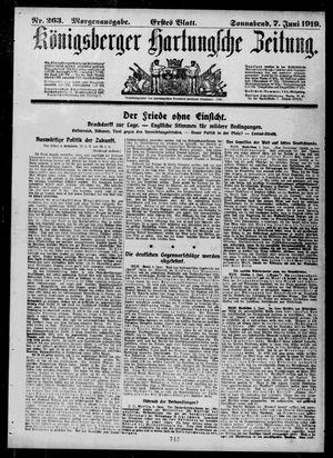 Königsberger Hartungsche Zeitung vom 07.06.1919