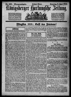 Königsberger Hartungsche Zeitung vom 08.06.1919