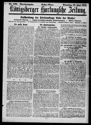 Königsberger Hartungsche Zeitung on Jun 10, 1919