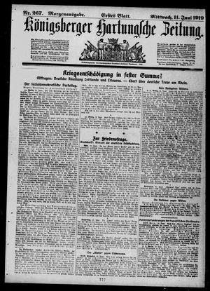 Königsberger Hartungsche Zeitung vom 11.06.1919