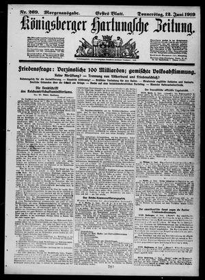 Königsberger Hartungsche Zeitung vom 12.06.1919