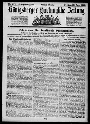 Königsberger Hartungsche Zeitung vom 13.06.1919