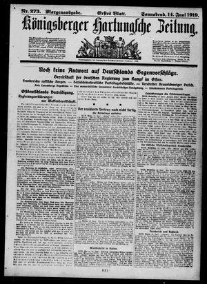 Königsberger Hartungsche Zeitung vom 14.06.1919