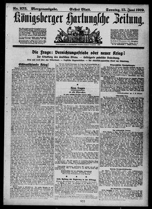 Königsberger Hartungsche Zeitung vom 15.06.1919