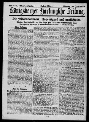 Königsberger Hartungsche Zeitung vom 16.06.1919
