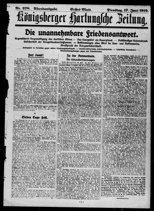 Königsberger Hartungsche Zeitung vom 17.06.1919