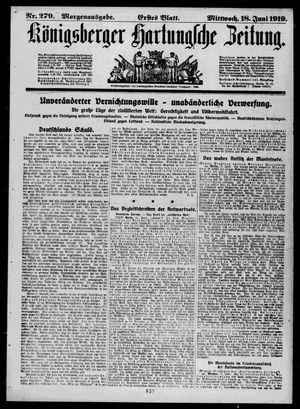 Königsberger Hartungsche Zeitung vom 18.06.1919