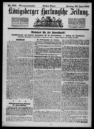 Königsberger Hartungsche Zeitung vom 20.06.1919