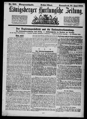 Königsberger Hartungsche Zeitung vom 21.06.1919