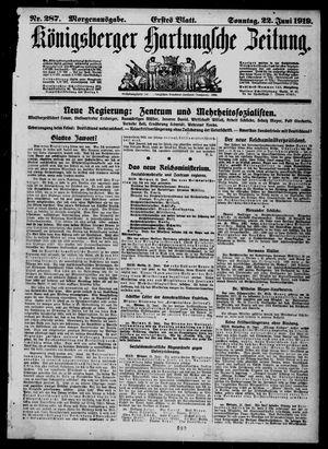 Königsberger Hartungsche Zeitung vom 22.06.1919