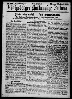 Königsberger Hartungsche Zeitung vom 23.06.1919