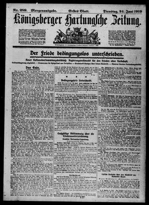 Königsberger Hartungsche Zeitung vom 24.06.1919