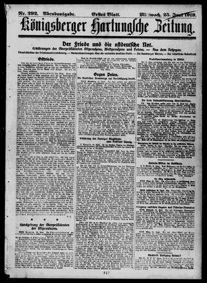 Königsberger Hartungsche Zeitung vom 25.06.1919