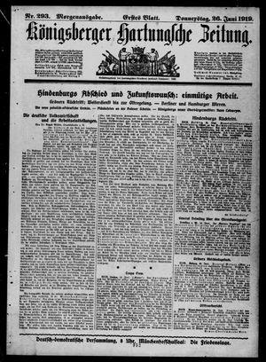 Königsberger Hartungsche Zeitung vom 26.06.1919