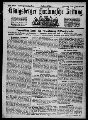 Königsberger Hartungsche Zeitung vom 27.06.1919