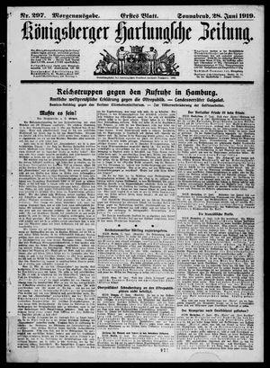 Königsberger Hartungsche Zeitung on Jun 28, 1919