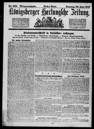 Königsberger Hartungsche Zeitung vom 29.06.1919